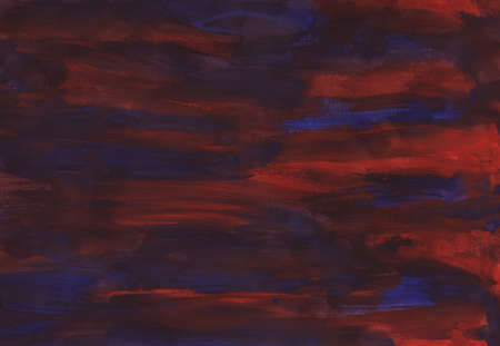 Simple abstract red-blue watercolor background, hand-painted texture, splashes, drops of paint, paint smears. Design for backgrounds, wallpapers, covers and packaging, wrapping paper. Stock fotó