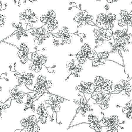 Orchids pattern. Artwork for print and textiles.