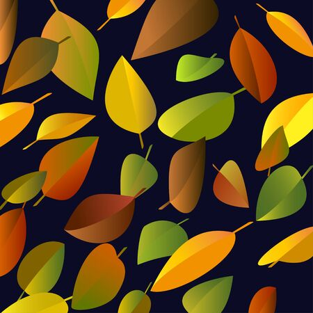 falling leaves: Autumn falling leaves on a dark background. Vector illustration