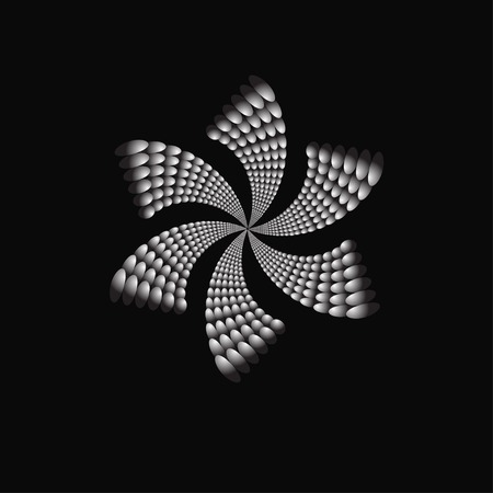 priceless: Vector abstract flower jewelry fantasy on a black background. Vector illustration Illustration