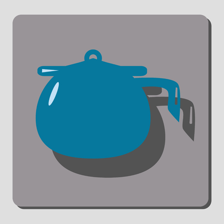 chamber pot: On a gray background icon depicts chamber pot. design element