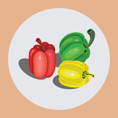 peppers: On the icon depicted on a white background bell peppers. Design element