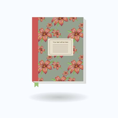 stickies: On a white background isolated traditional notebook diary for studying and working with the pattern. Vector illustration.