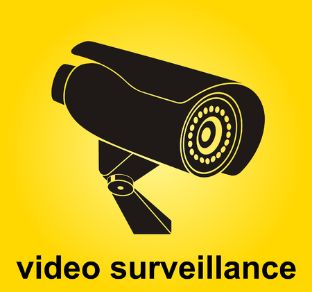 Video surveillance sign. CCTV Camera.