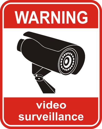 signe de surveillance vidéo. Caméra de vidéosurveillance. Vecteurs