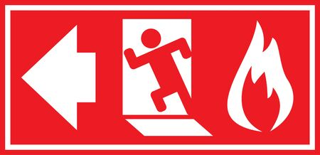 fire exit: Fire exit sign. Vector illustration.