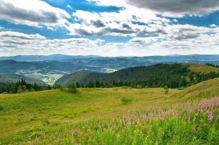 Beautiful mountains landscape in Carpathian Reklamní fotografie