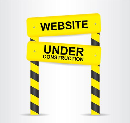 vector sign under construction: SIte under construction. Vector sign.