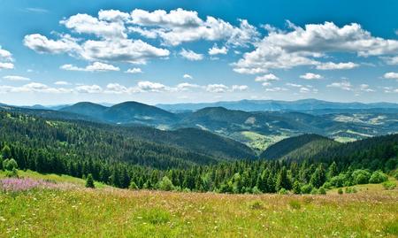 Beautiful mountains landscape in Carpathian
