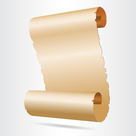 Old blank paper script.  Vector illustration.