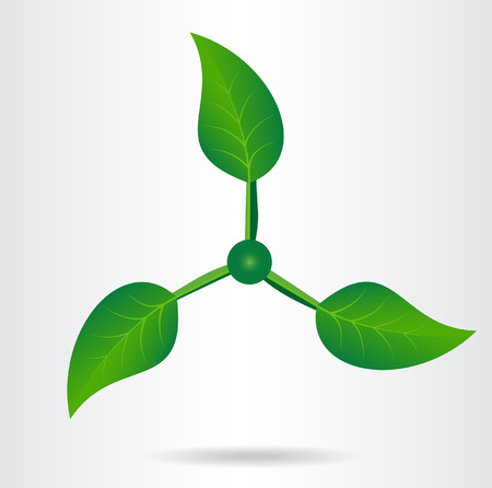 Conceptual eco icon. Vector illustration. Illustration