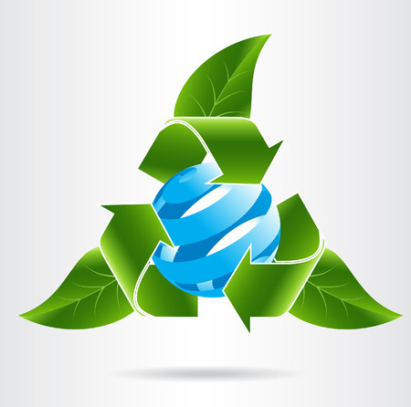 Conceptual eco icon. Vector illustration. Illustration