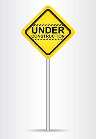 vector sign under construction: Under construction sign. Vector illustration. Illustration