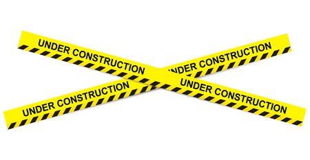 prudence: Under construction ribbons