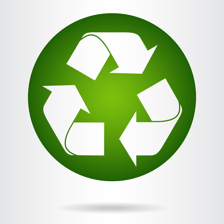 recycle symbol: Recycle symbol or sign of conservation green icon. Vector sign