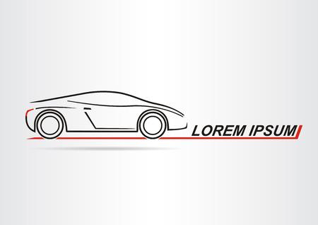 lifelike: Silhouette of the car. Car symbol. Vector illustration Illustration
