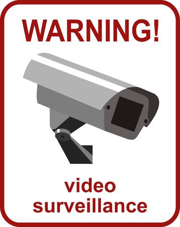 Videobewaking teken. Beveiligingscamera.