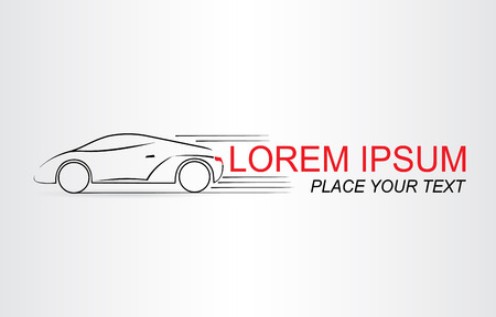 lifelike: Silhouette of the car. Car symbol. Template for logotype.