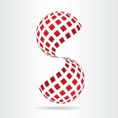 Abstract vector logo design template. Illustration