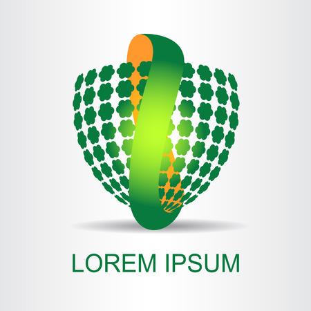 적합: Logo stylized spherical surface with abstract shapes. This logo is suitable for global company, world technologies and media and publicity agencies 일러스트