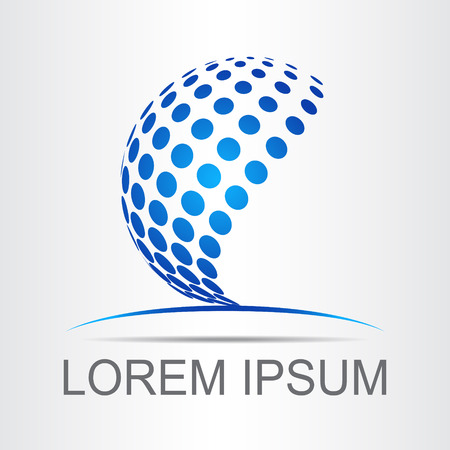 Logo stylized spherical surface with abstract shapes. This logo is suitable for global company, world technologies and media and publicity agencies 일러스트