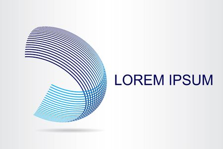 Logo stylized spherical surface with abstract shapes. This logo is suitable for global company, world technologies, media and publicity agencies  Illustration