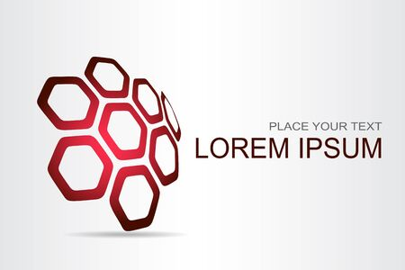 Logo stylized spherical surface with abstract shapes. This logo is suitable for global company, world technologies, media and publicity agencies  Stock Illustratie