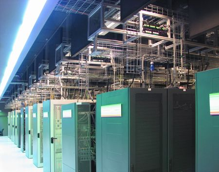 The test operation hall of big research telecommucations center