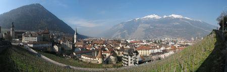 Oldest city of Switzerland - Chur is capital city of kanton Graubunden