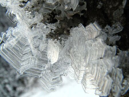 Natural crystales of ice