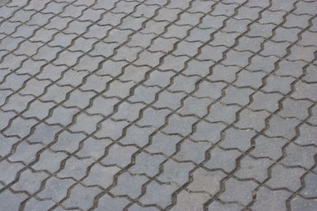 Sidewalk gray tiles as background Stock Photo - 2897087