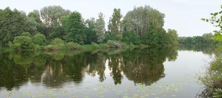 Typical former riverbed near Desna river, Chernigiv district in Ukraine Stock Photo