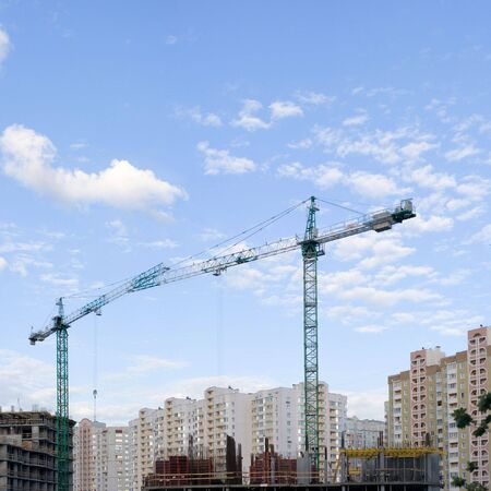Building of new apartment in Kyiv Stock Photo