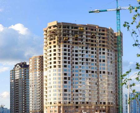 Building of new apartment houses in Kyiv photo