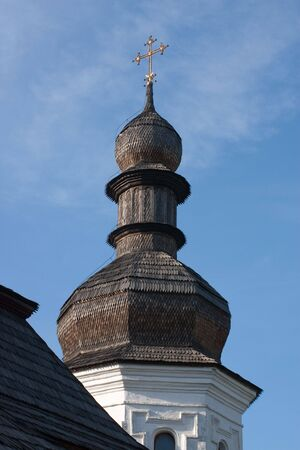 The old tower of Trapezna church of Mikhailovsky monastery in Kyiv