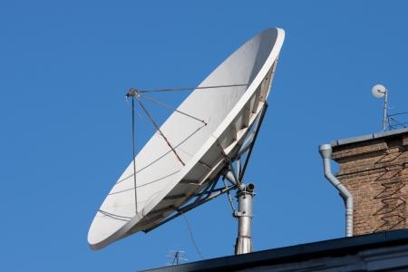 Satelite antennas of the roof top Stock Photo