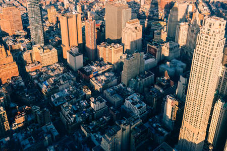 New York City Manhattan midtown aerial panorama view Foto de archivo