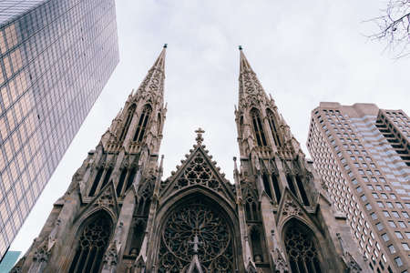 St. Patricks Cathedral located on the fifth avenue of NYC