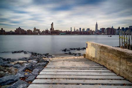Manhattan Skyline over Hudson River, New York City, USA