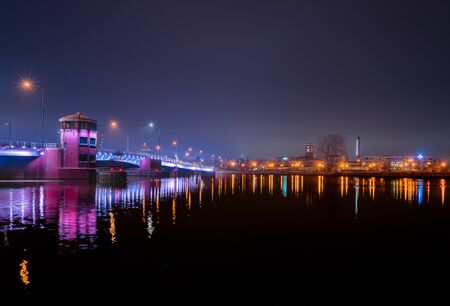 Main Street bridge at night, Green Bay, Wisc.