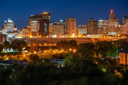 Downtown St. Paul from across the Mississippi River.