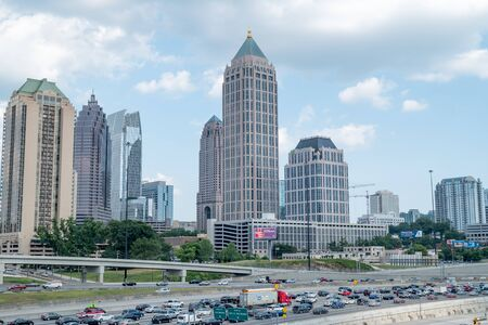Roush hour traffic in the capital city of Atlanta