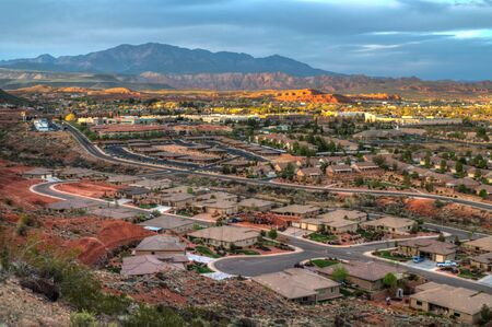 An overview of St George, Utah. Stock Photo
