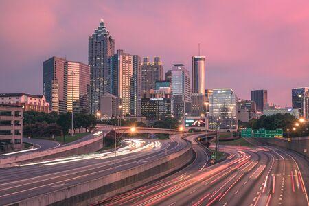 Modern city panoramic view skyline, Atlanta, Georgia, USA