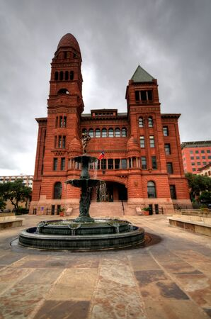 Famous Red Bexar County Courthouse San Antonio Texas. Built in 1896 Reklamní fotografie