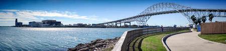 Corpus Christi Harbor Bridge. Corpus Christi, Texas, USA. Foto de archivo