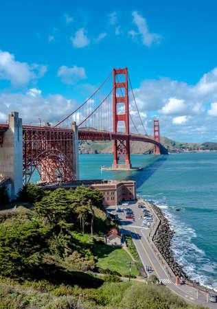 Golden Gate Bridge on a clear summer day
