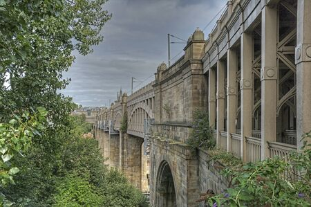 View of the High Level bridge, Newcastle upon Tyne, Tyne and Wear, England, UK, Western Europe