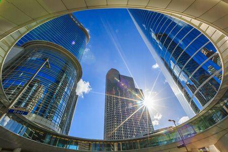 Wells Fargo Plaza Skyscraper in Houston Downtown Skyline District. in Houston Texas United States