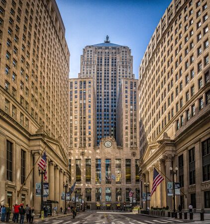 Chicago Board of Trade Building. A Skyscraper and National Historic Landmark buildt in 1930.